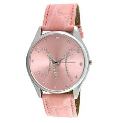 Viva Women's Crystal Initial 'M' Pink Watch