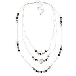 Alexa Starr Silvertone Crystal 3-strand Illusion Necklace