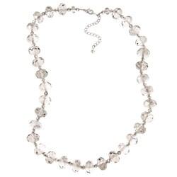Alexa Starr Silvertone Grey Glass Bead Necklace