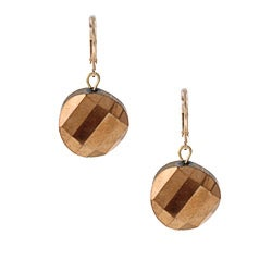 Alexa Star Bronzetone Faceted Chip Earrings