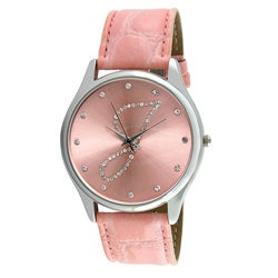 Viva Women's Crystal Initial 'J' Pink Watch