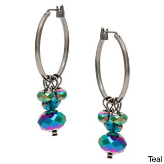 Alexa Starr Crystal Cluster Hoop Earrings