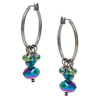 Alexa Starr Crystal Cluster Hoop Earrings