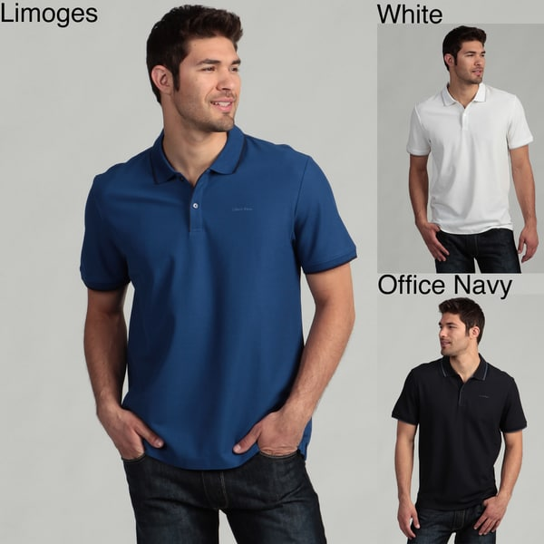 Calvin Klein Men's Liquid Pima Polo Shirt FINAL SALE