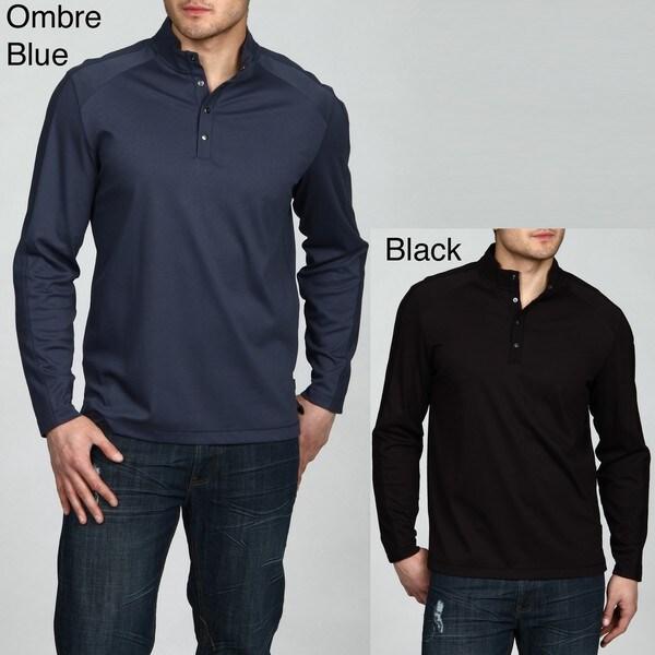 Calvin Klein Men's 4-button Liquid Interlock Shirt