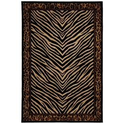 Burundi Beige/Black Rug (5'3 x 7'10)