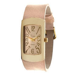 Viva Women's Goldtone and Pink Watch