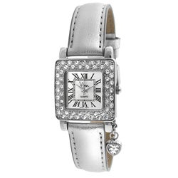Viva Women's Square Crystal Bezel Watch