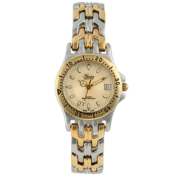 Swiss Edition Women's Two-Tone Champagne Dial Watch