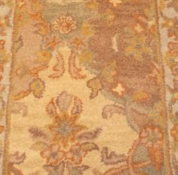 Indo Hand-tufted Tabriz Beige Wool Rug (2' x 3')