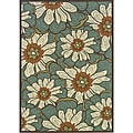 Blue/Brown Outdoor Area Rug (7'10 x 10')