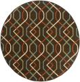 Brown/ Ivory Outdoor Area Rug (7'10 Round)