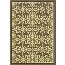 Green/ Ivory Outdoor Area Rug (7'10 x 10')