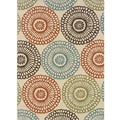 Ivory/ Blue Outdoor Area Rug (7'10 x 10'10)