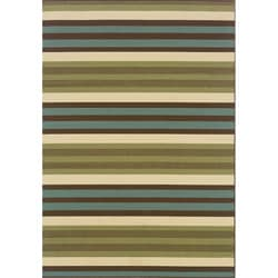 Green/Blue Outdoor Area Rug (7'10 x 10')