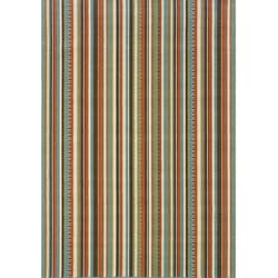 Blue/Ivory Stripe-Pattern Outdoor Area Rug (7'10