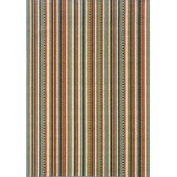 "Blue/Ivory Stripe-Pattern Outdoor Area Rug (7'10"" x 10')"