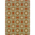 Orange/ Ivory Outdoor Area Rug (7'10 x 10')