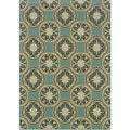 Blue/ Ivory Outdoor Area Rug (7'10 x 10')