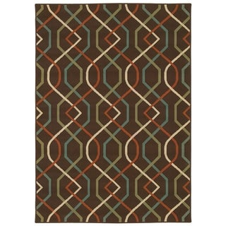 Brown/Ivory Outdoor Area Rug (7'10 x 10'10)