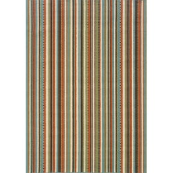 Blue/Ivory Striped Outdoor Area Rug (2'5 x 4'5)