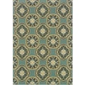 Blue/ Ivory Outdoor Area Rug (3'7 x 5'6)