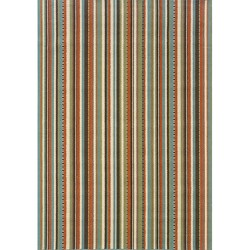 Blue/ Multi Striped Outdoor Area Rug (3'7 x 5'6)