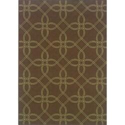 Brown/Green Outdoor Area Rug (6'7 x 9'6)