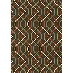 Brown/Ivory Outdoor Area Rug (2'5 x 4'5)