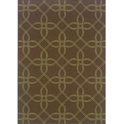 "Brown/Green Outdoor Area Rug (3'7"" x 5'6"")"