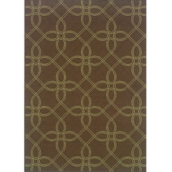 "Brown/Green Outdoor Area Rug (5'3"" x 7'6"")"