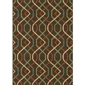 Brown/ Ivory Outdoor Area Rug (5'3 x 7'6)