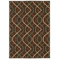 Brown/Ivory Outdoor Area Rug (6'7 x 9'6)