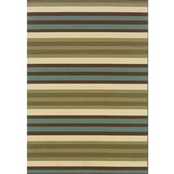 Green/ Blue Outdoor Area Rug (2'5 x 4'5)