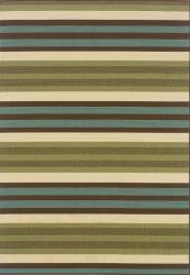 Green/Blue Outdoor Area Rug (6'7 x 9'6)