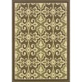 Green/Ivory Outdoor Area Rug (6'7 x 9'6)