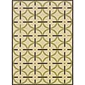 Ivory/ Brown Indoor/ Outdoor Area Rug (2'5 x 4'5)