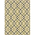 "Ivory/Brown Outdoor Geometric Area Rug (2'5"" x 4'5"")"