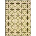 Ivory/ Brown Outdoor Area Rug (3'7 x 5'6)