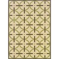 Geometric Ivory/Brown Outdoor Area Rug (6'7