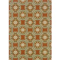 Orange/ Ivory Outdoor Area Rug (2'5 x 4'5)