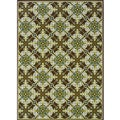 Brown/ Ivory Outdoor Area Rug (3'10 x 5'6)