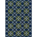 Blue/ Blue Outdoor Area Rug (7'10 x 10')