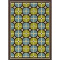 Brown/ Blue Outdoor Area Rug (3'10 x 5'6)