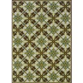 Brown/Ivory Outdoor Polypropylene Area Rug (5'3 x 7'6)