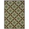 Brown/ Ivory Outdoor Area Rug (6'7 x 9'6)