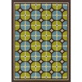 Brown/ Blue Outdoor Area Rug (6'7 x 9'6)