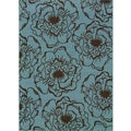 Blue/ Brown Floral Outdoor Area Rug (7'10 x 10'10)