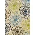 Ivory/Green Outdoor Polypropylene Area Rug (7'10 x 10')