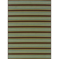 Brown/Green Outdoor Area Rug (5'3 x 7'6)